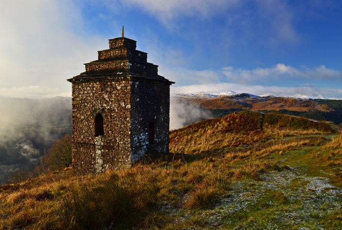 The watchtower at the top of Dun na Cuaiche.