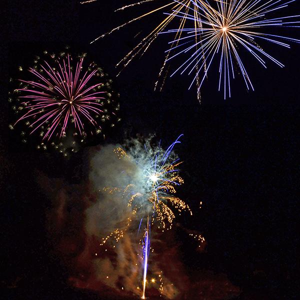 Image of fireworks taken in Lochgilphead Argyll on 5th November